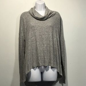 Saturday Sunday Ribbed Knit Cowl Neck Sweater